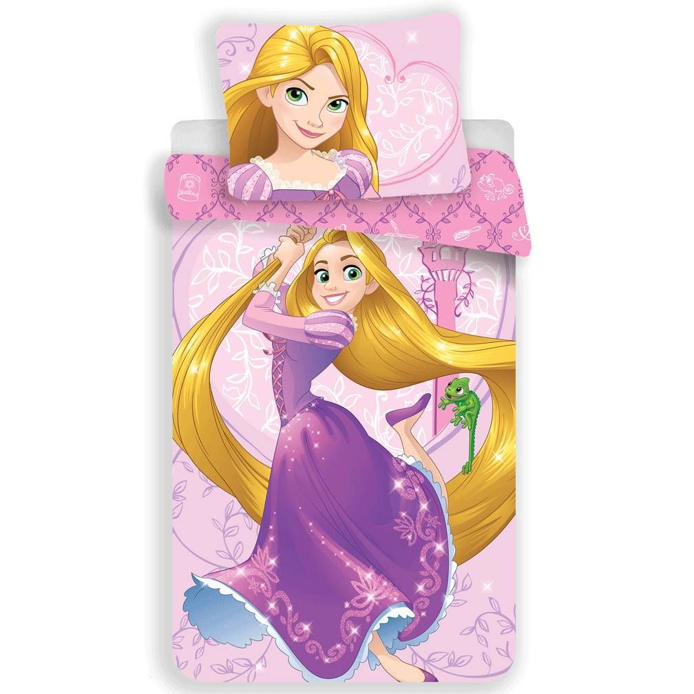 Disney Princess Rapunzel Dekbedovertrek Roze