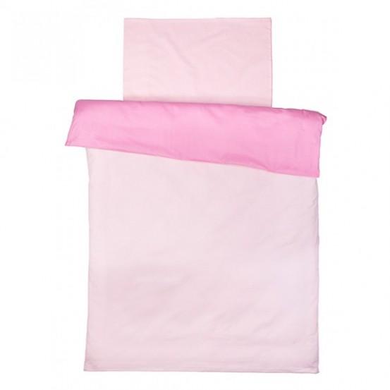 Jollein Overtrek en sloop 100x140cm roze/lichtroze