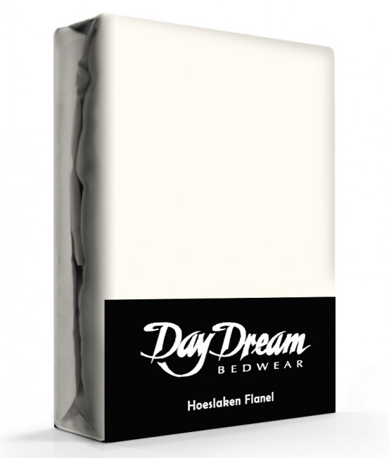 Flanellen Hoeslaken Ecru Day Dream