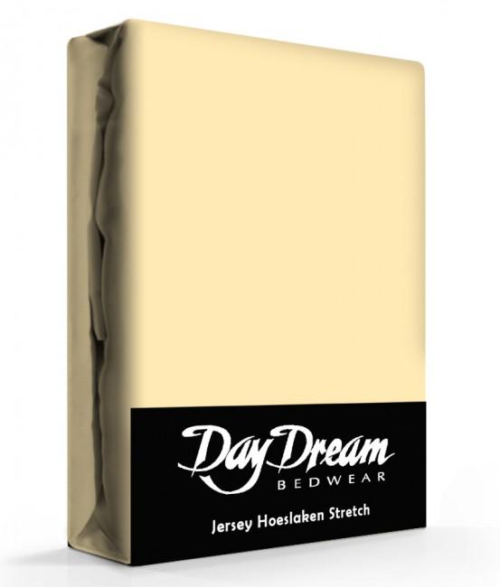 Day Dream Jersey Hoeslaken Geel-90 x 200 cm