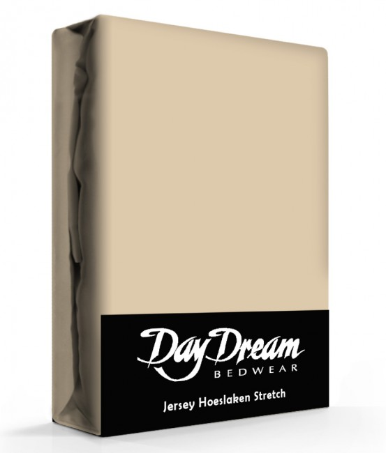 Day Dream Jersey Hoeslaken Nougat-90 x 200 cm