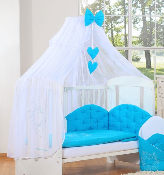 3-Delig Bedset Chic Voile Turquoise