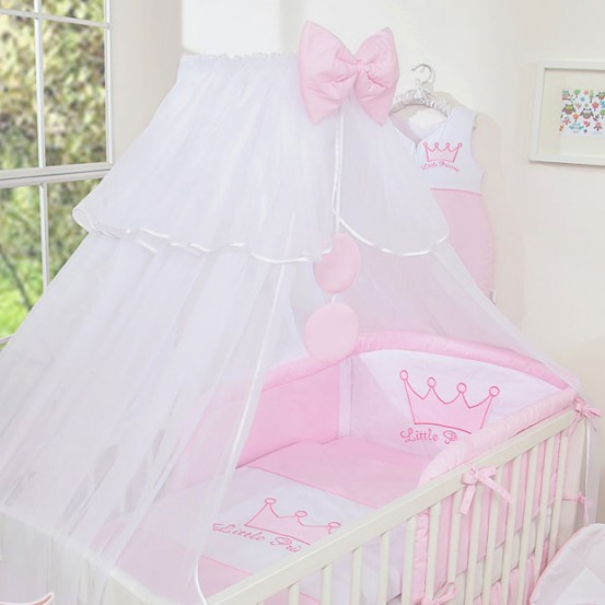 3-Delig Bedset Little Princess Voile Roze