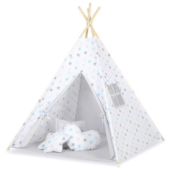 Tipi Speeltent Stars Grey-Blue