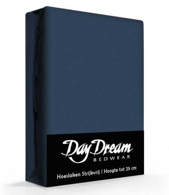 Day Dream Hoeslaken Katoen Donker Blauw