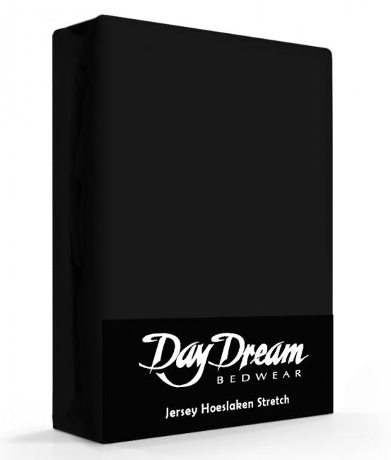 Day Dream Jersey Hoeslaken Zwart-90 x 200 cm