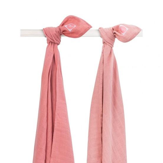 Jollein Hydrofiel Multidoek Coral Pink 115x115cm (2 stuks)
