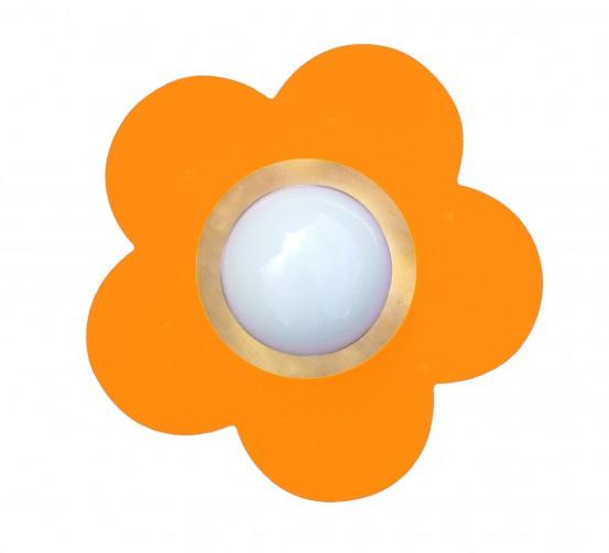 Plafondlamp Fleurige Bloem Oranje