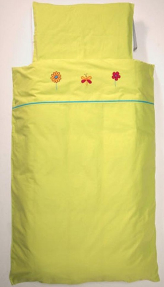 Jollein Lakenset Butterfly Lime 75x100cm