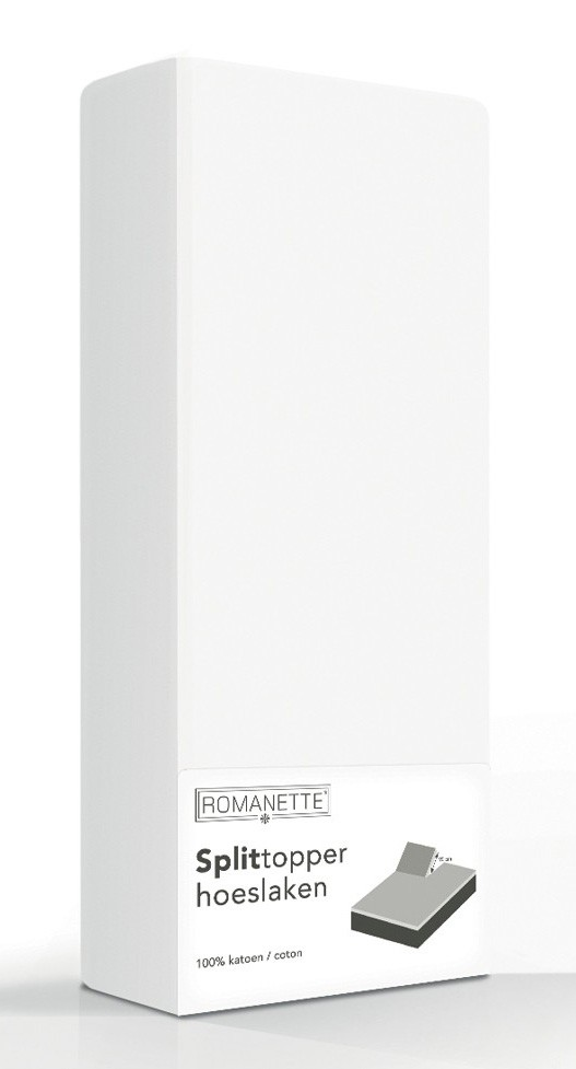 Split-Topper Hoeslaken Romanette Wit