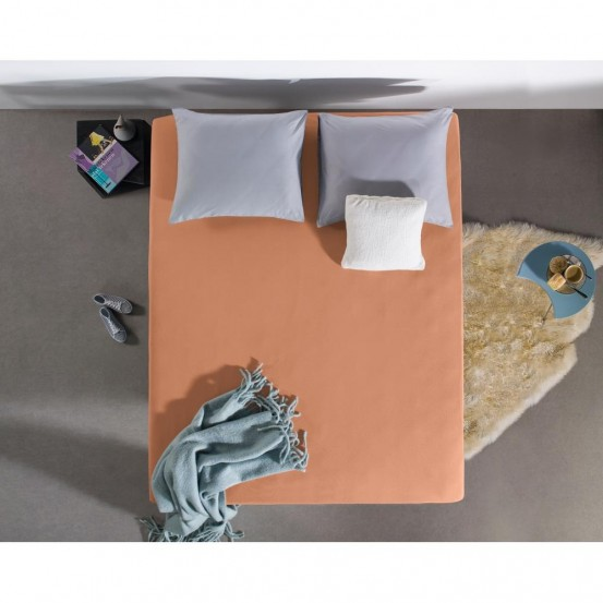 Dreamhouse Jersey Hoeslaken Pastel Orange