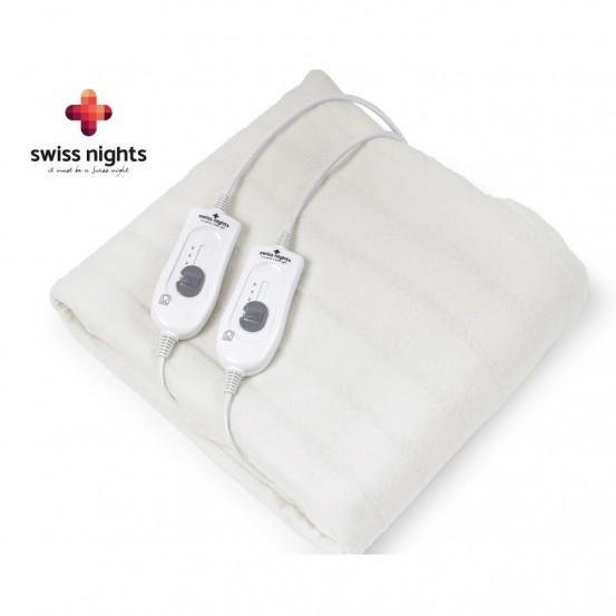 Swiss Nights Elektrische Deken 2-Persoons 2 x 60W White