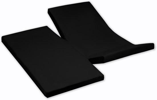 Damai Dubbele Split topper Hoeslaken Black 15 cm (Katoen)