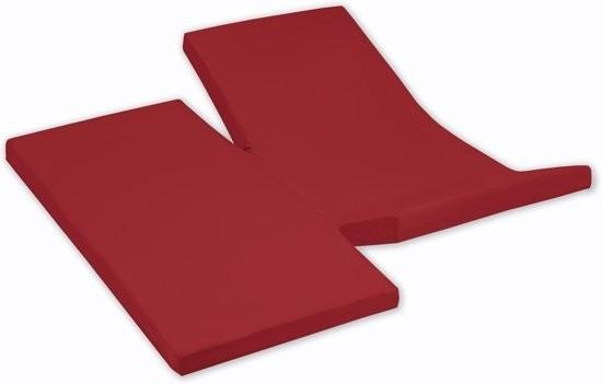 Damai Dubbele Split topper Hoeslaken Rood 15 cm (Katoen)