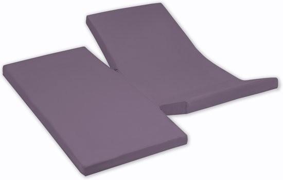 Damai Dubbele Split topper Hoeslaken Purple 15 cm (Katoen)