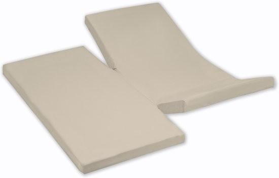 Damai Dubbele Split topper Hoeslaken Silver Sand 15 cm (Katoen)