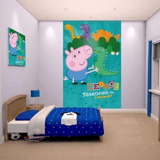 Peppa Pig Fotobehang (Walltastic)