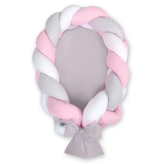My Sweet Baby Babynestje 2-in-1 Grijs-Roze-Wit