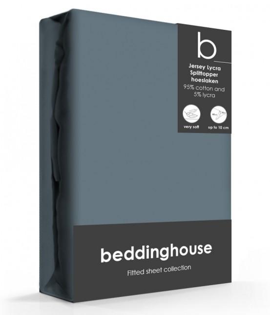 Beddinghouse Splittopper Hoeslaken Jersey Cool Grey