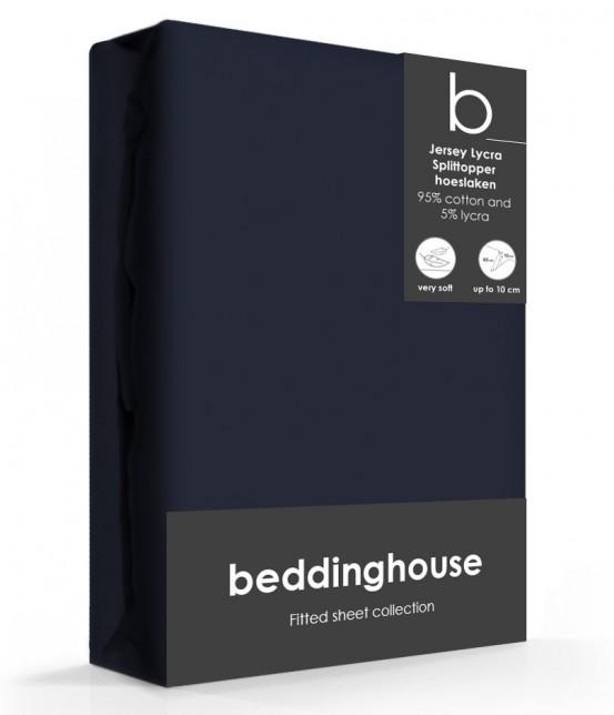 Beddinghouse Splittopper Hoeslaken Jersey Indigo