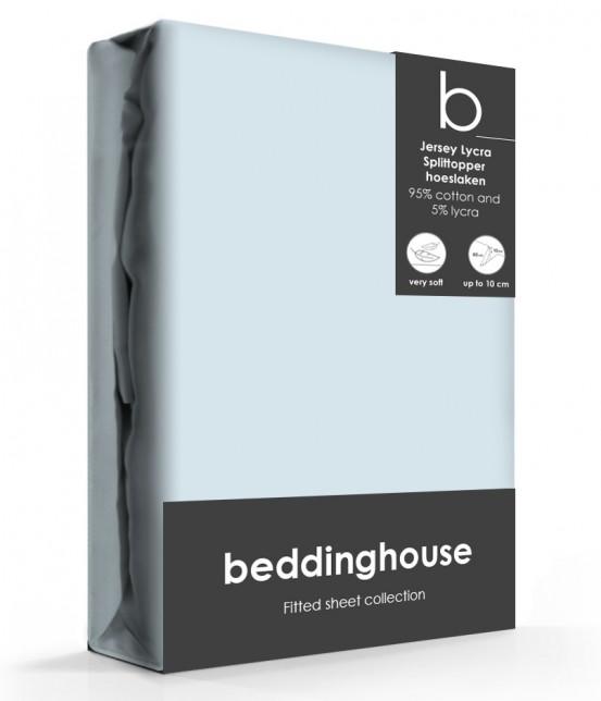 Beddinghouse Splittopper Hoeslaken Jersey Lichtblauw