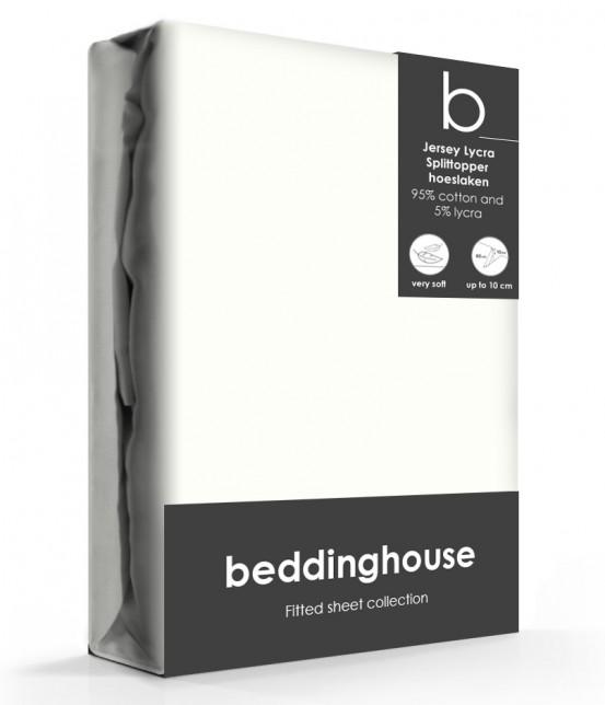 Beddinghouse Splittopper Hoeslaken Jersey Offwhite