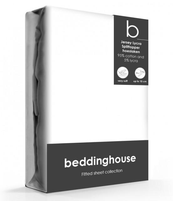 Beddinghouse Splittopper Hoeslaken Jersey Wit
