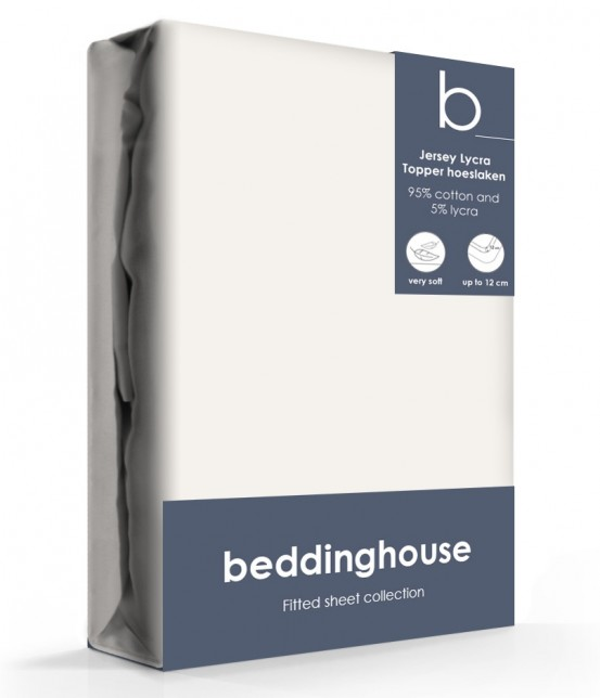 Beddinghouse Jersey-Lycra Topper Hoeslaken Koraal Naturel