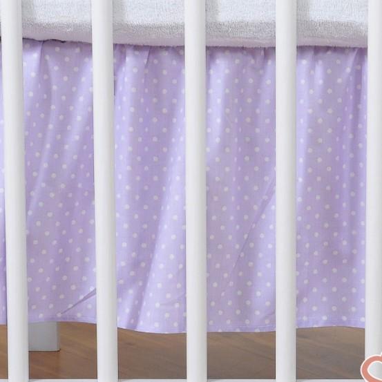 My Sweet Baby Bedrok Dots/Paars 60x120cm