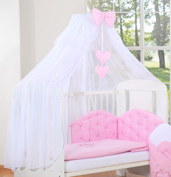 3-Delig Bedset Chic Voile Roze