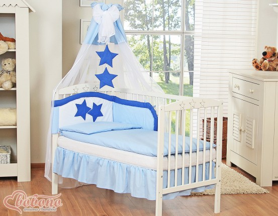 3-Delig Bedset Collection of Stars Voile/Katoen Blauw