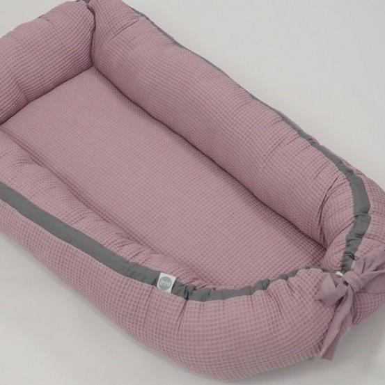 Betulli Babynestje Wafel Dusty Pink