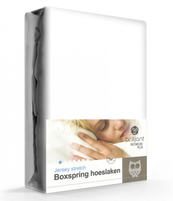 Boxspring/Waterbed Hoeslaken Jersey Wit