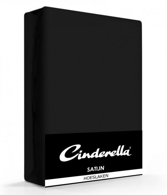 Cinderella Hoeslaken Satijn Black