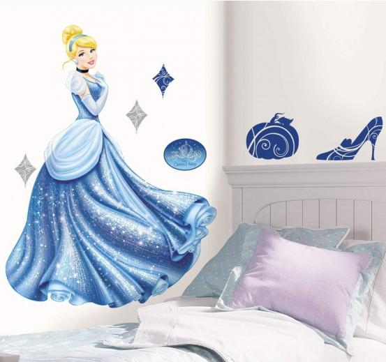 Princess Muurstickers Cinderella Glitter (RoomMates)