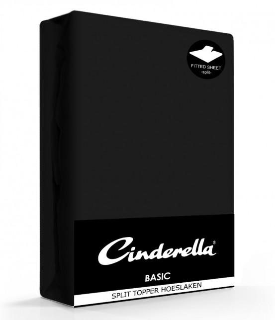 Cinderella Splittopper Hoeslaken Basic Percaline Black