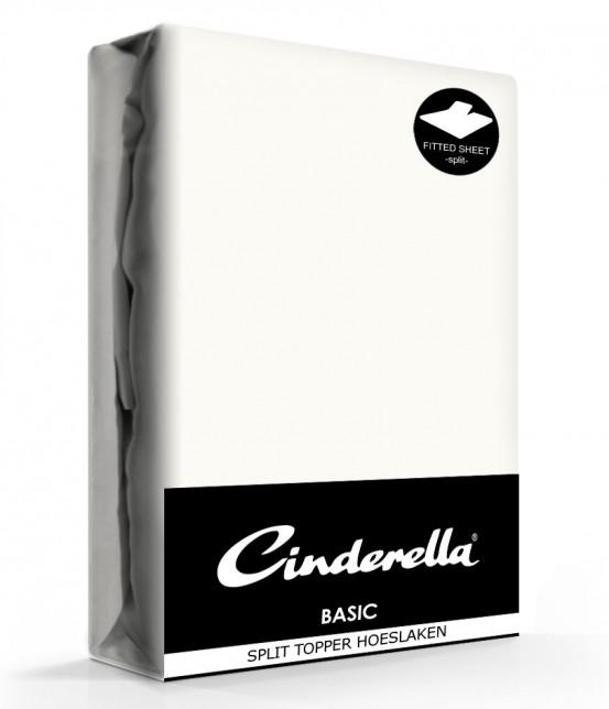 Cinderella Splittopper Hoeslaken Basic Percaline Ivory