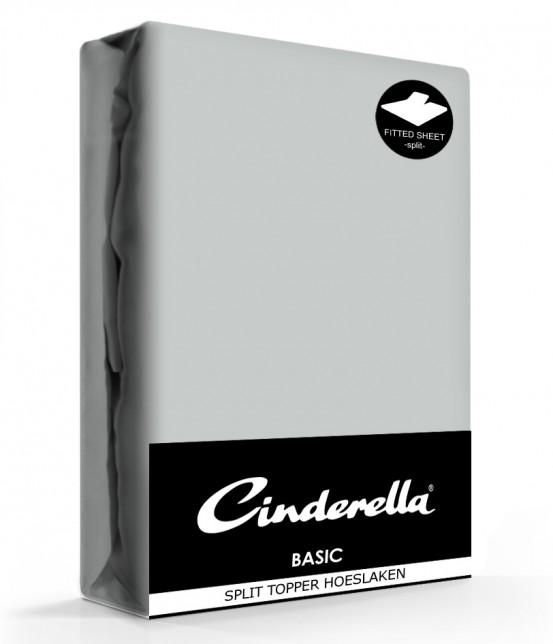 Cinderella Splittopper Hoeslaken Basic Percaline Light Grey