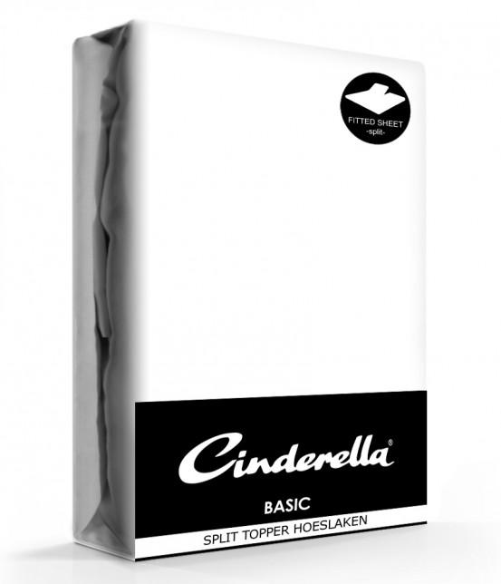 Cinderella Splittopper Hoeslaken Basic Percaline White