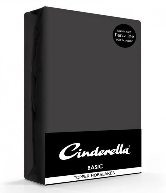 Cinderella Topper Hoeslaken Basic Percaline Antracite