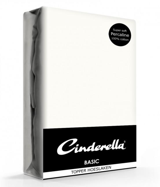 Cinderella Topper Hoeslaken Basic Percaline Ivory