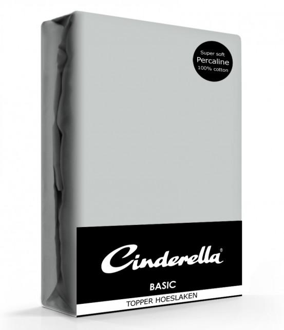 Cinderella Topper Hoeslaken Basic Percaline Light Grey