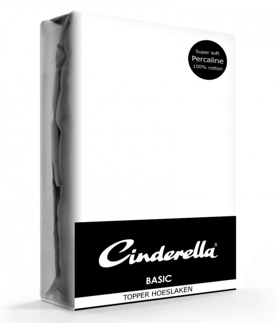 Cinderella Topper Hoeslaken Basic Percaline White