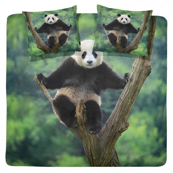 Damai Dekbedovertrek Panda Green