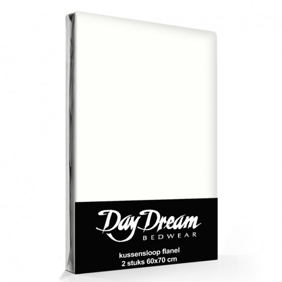 Flanellen Kussenslopen Ecru (2 stuks) Day Dream