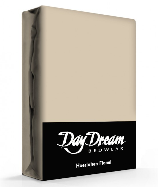 Flanellen Hoeslaken Taupe Day Dream