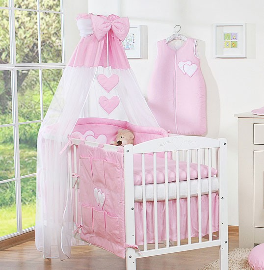 3-Delig Bedset Two Hearts Voile/Katoen Roze