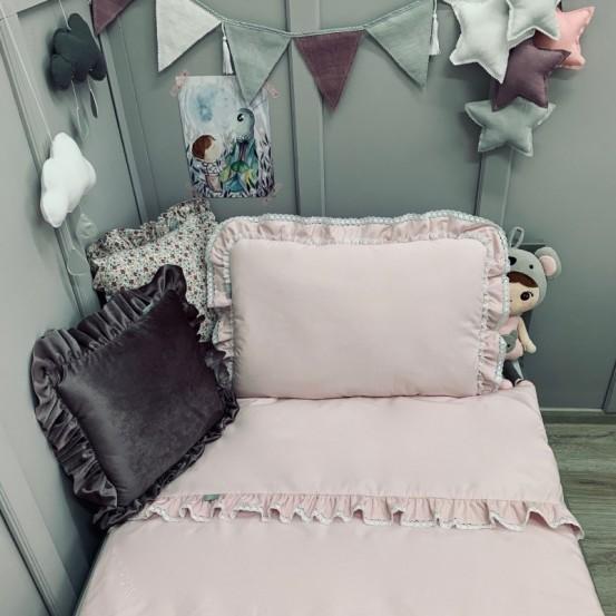 Dolly Beddengoedset met Vulling Ruffles Roze