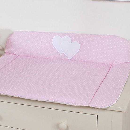 My Sweet Baby Aankleedkussen Two Hearts Dots/Roze
