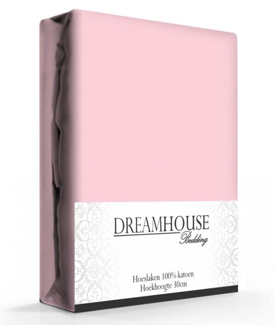Dreamhouse Hoeslaken Katoen Roze